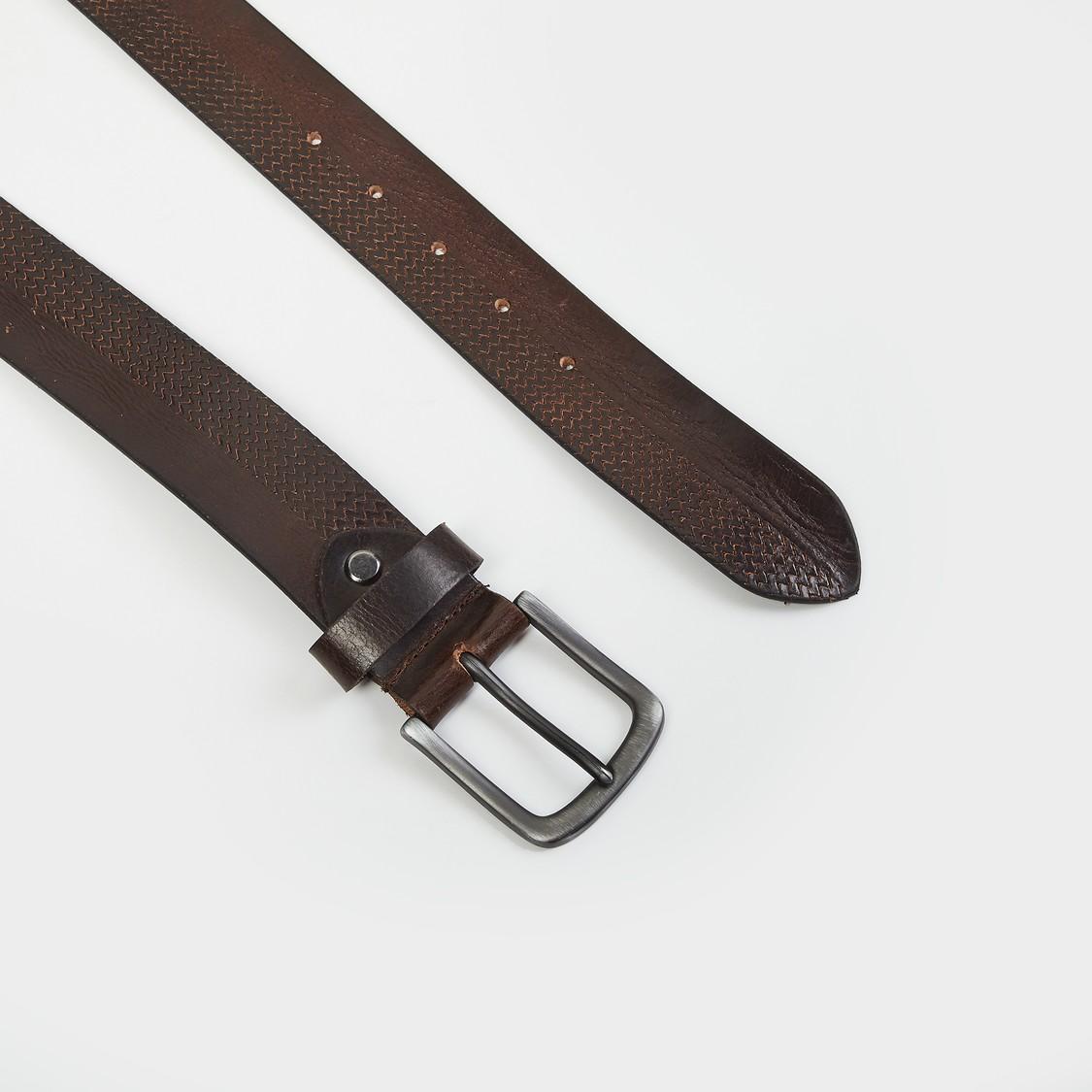 MAX Reptilian Pattern Genuine Leather Casual Belt