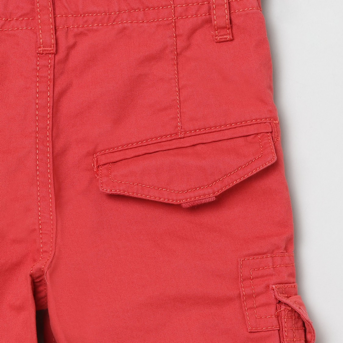 MAX Solid Woven Bermuda Shorts