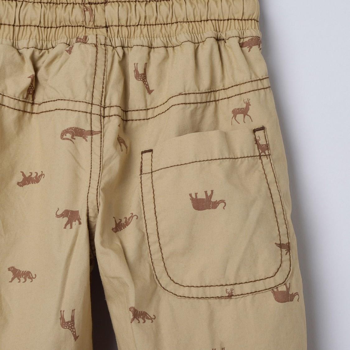 MAX Printed Drawstring Waist Trousers