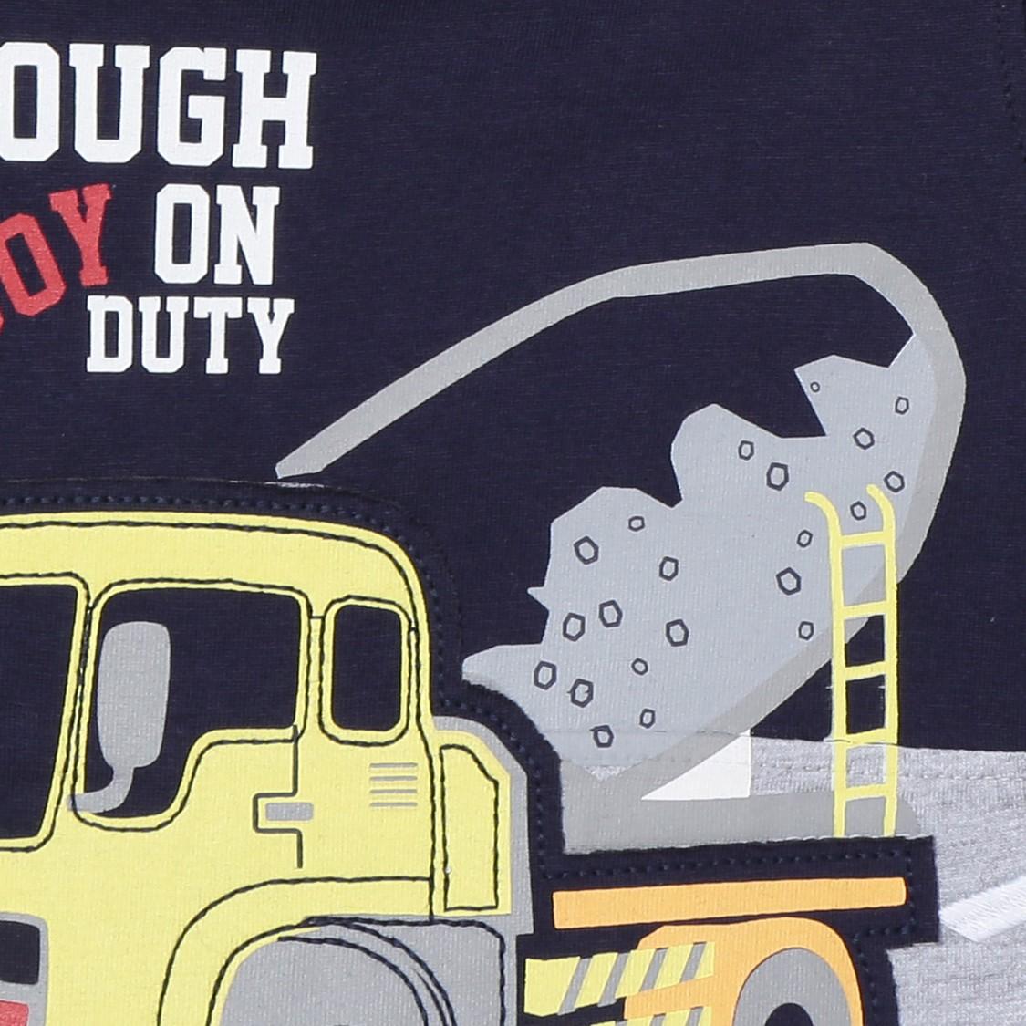 MAX Graphic Print Crew Neck T-shirt