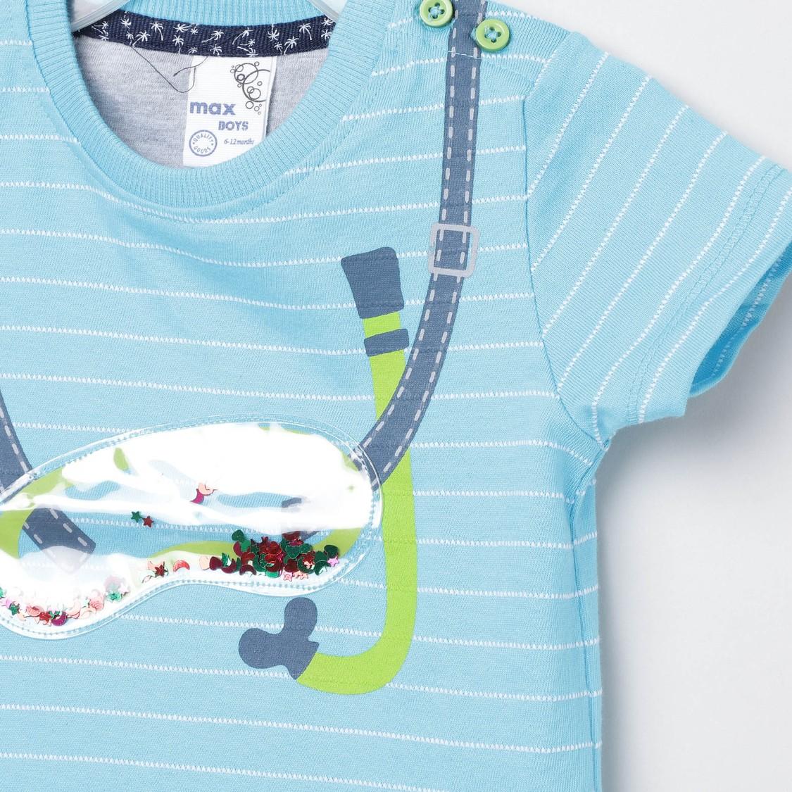 MAX Round Neck Printed T-Shirt