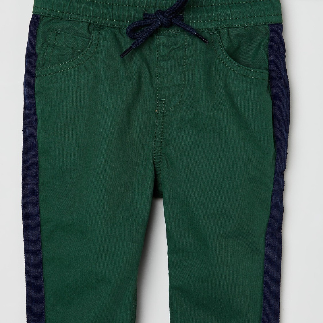 MAX Solid Woven Full Length Trousers