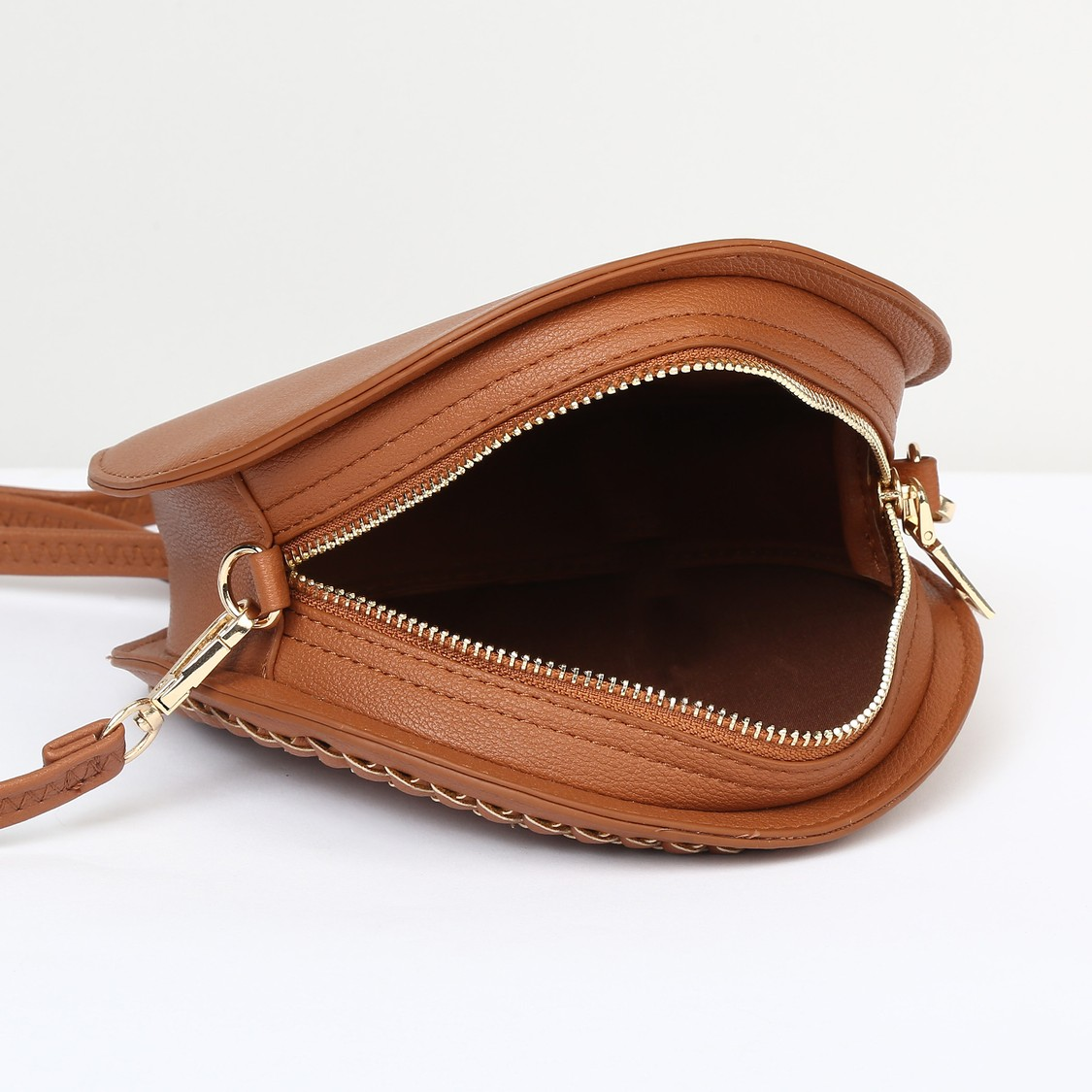 MAX Textured Round Sling Bag
