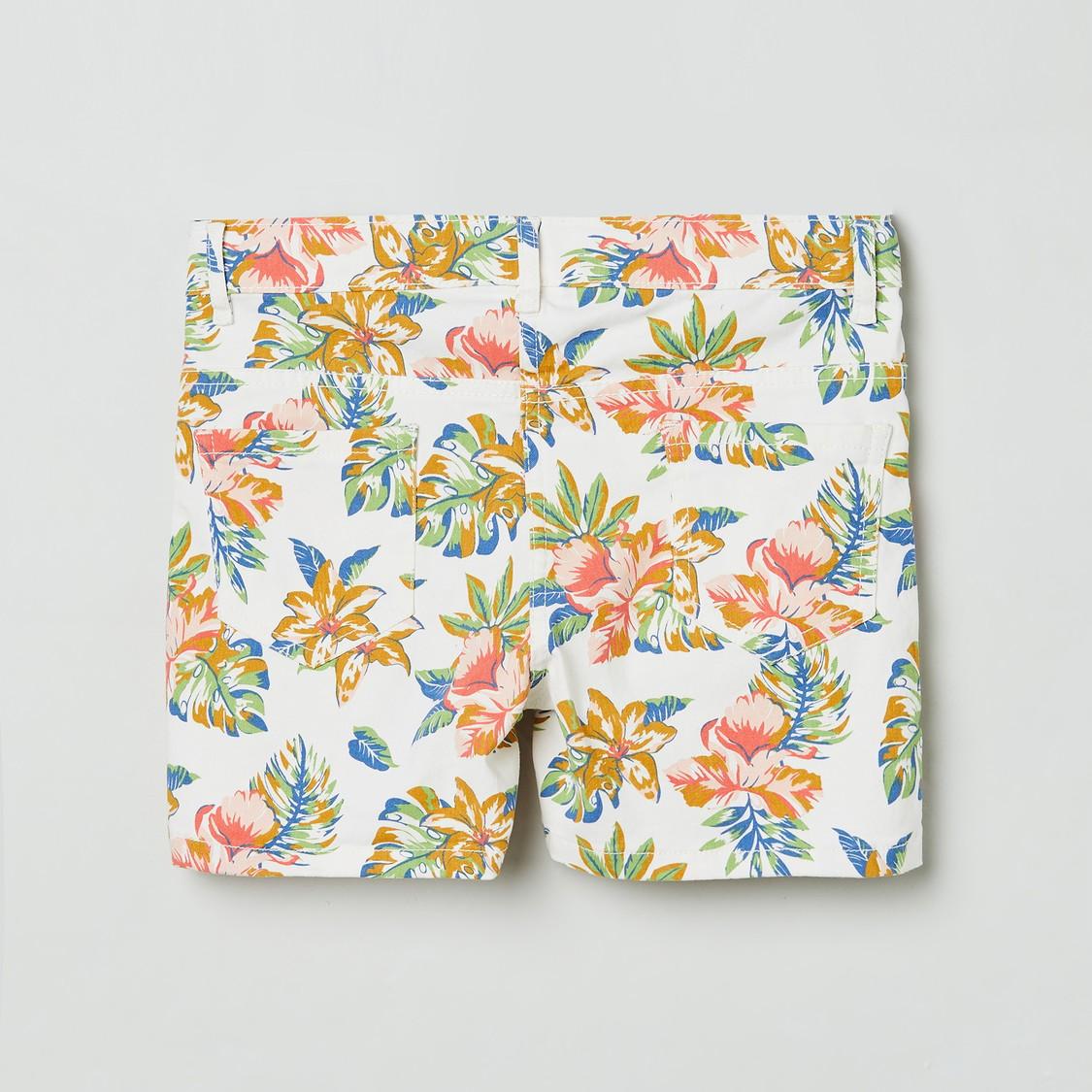 MAX Floral Printed Shorts