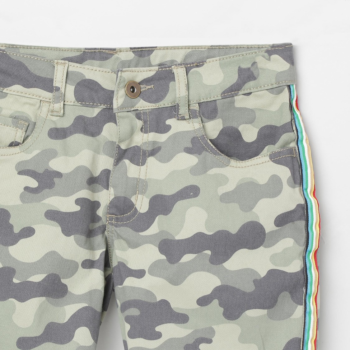 MAX Camouflage Print Woven Shorts