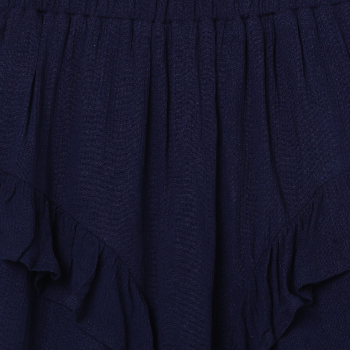 MAX Solid Layered A-Line Skirt