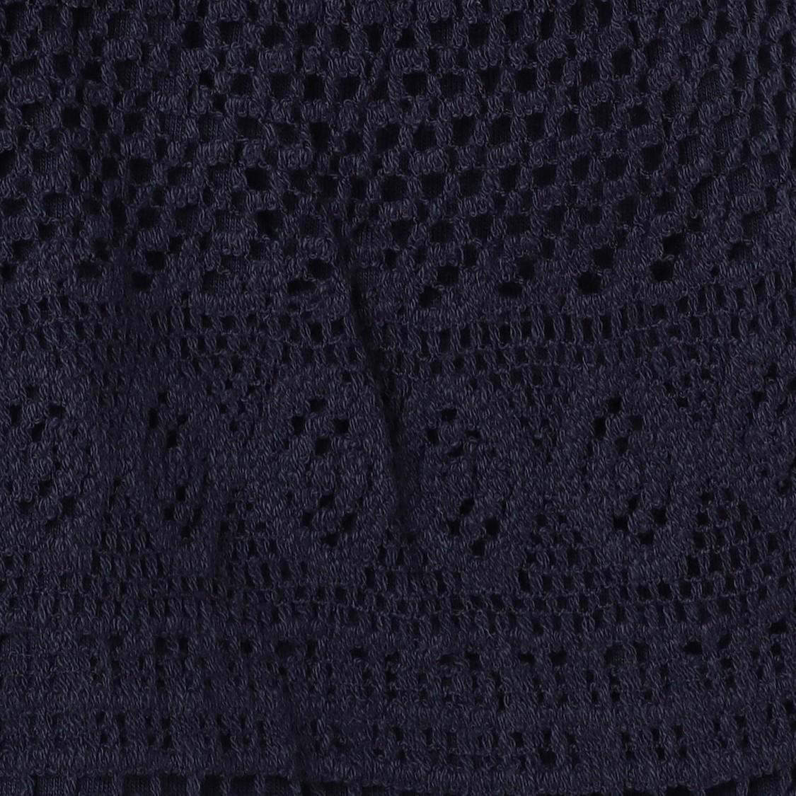 MAX Crochet Detailed Elasticated Knit Shorts