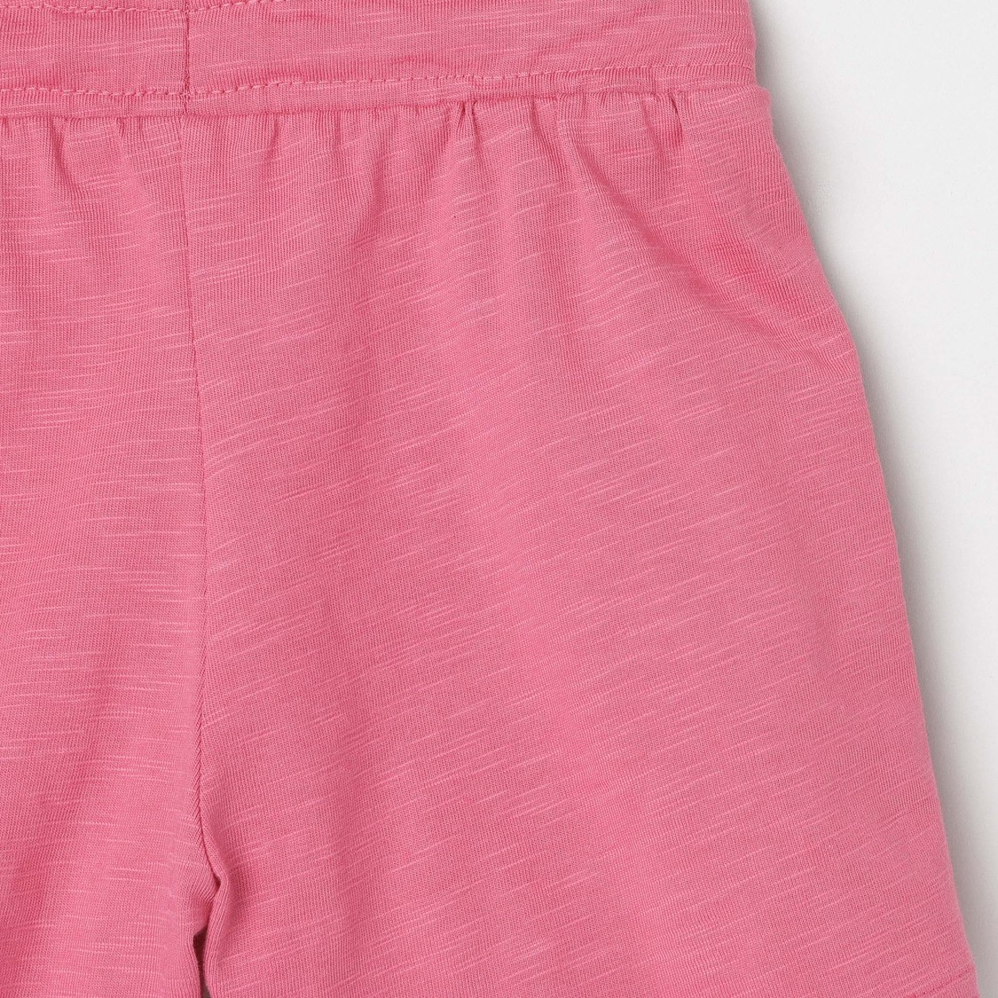 MAX Solid Knit Elasticated Shorts with Ruffle Detailing