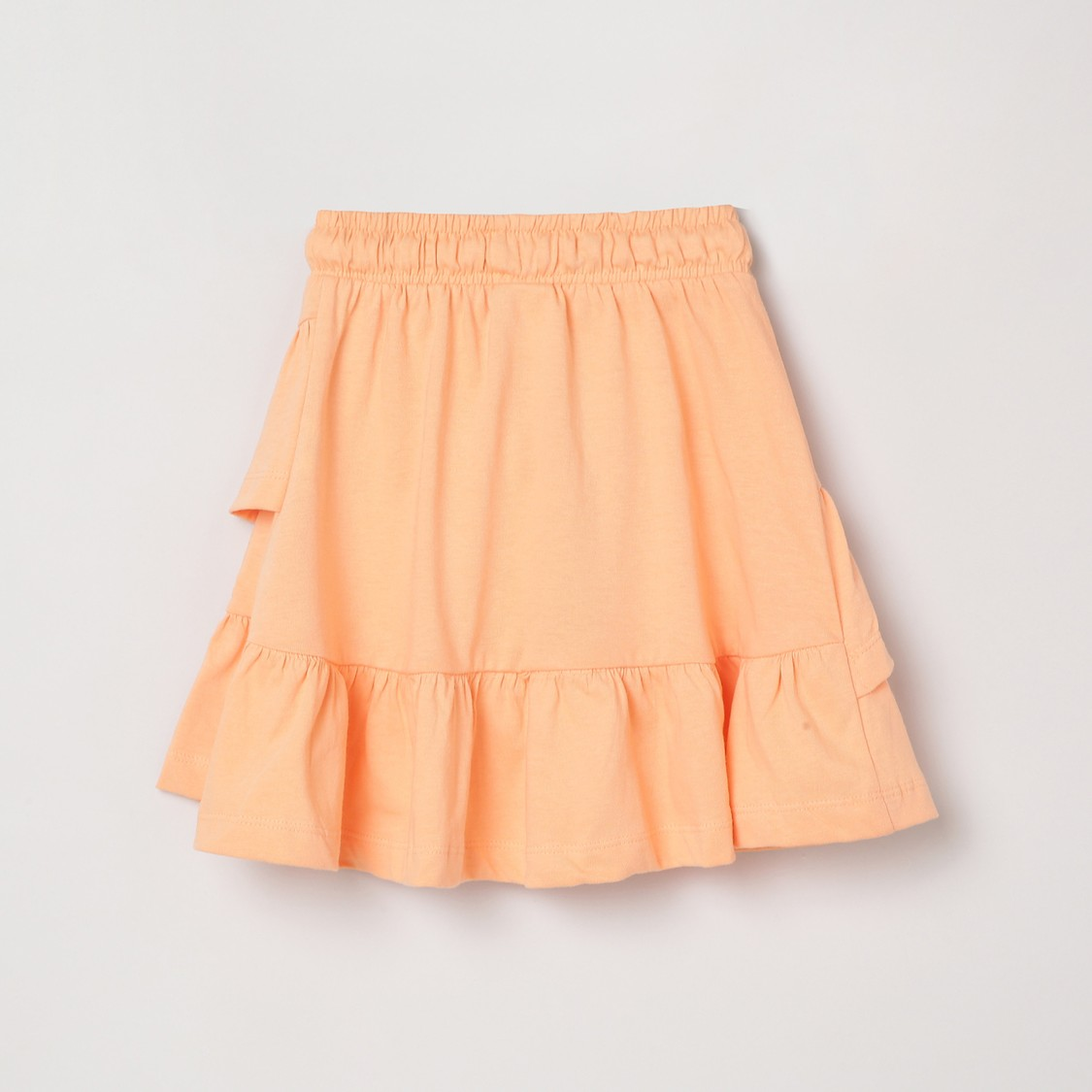 MAX Solid Tiered A-Line Elasticated Skirt
