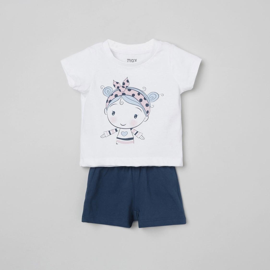 MAX Printed T-shirt with Shorts