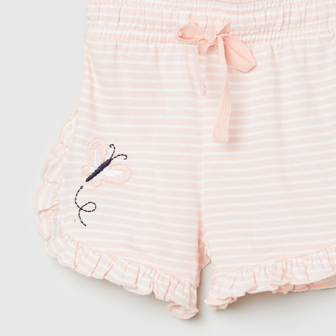 MAX Striped Knit Shorts