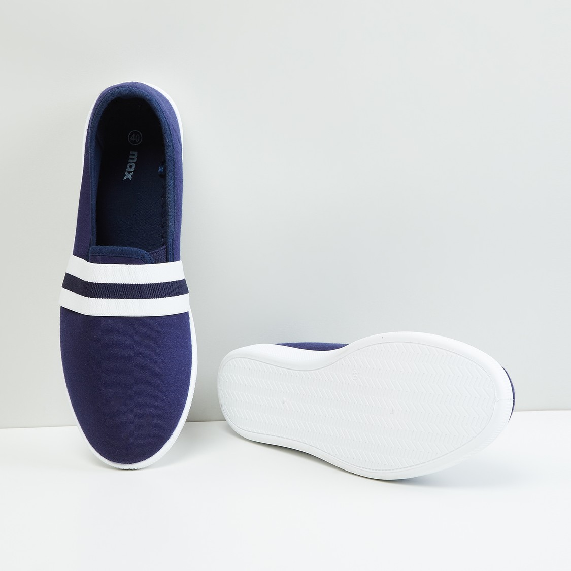 MAX Striped Slip-On Shoes