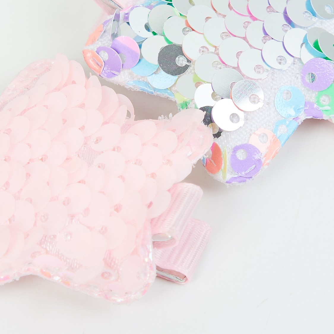 MAX Star Shaped Sequin Hair Clips - Set of 2