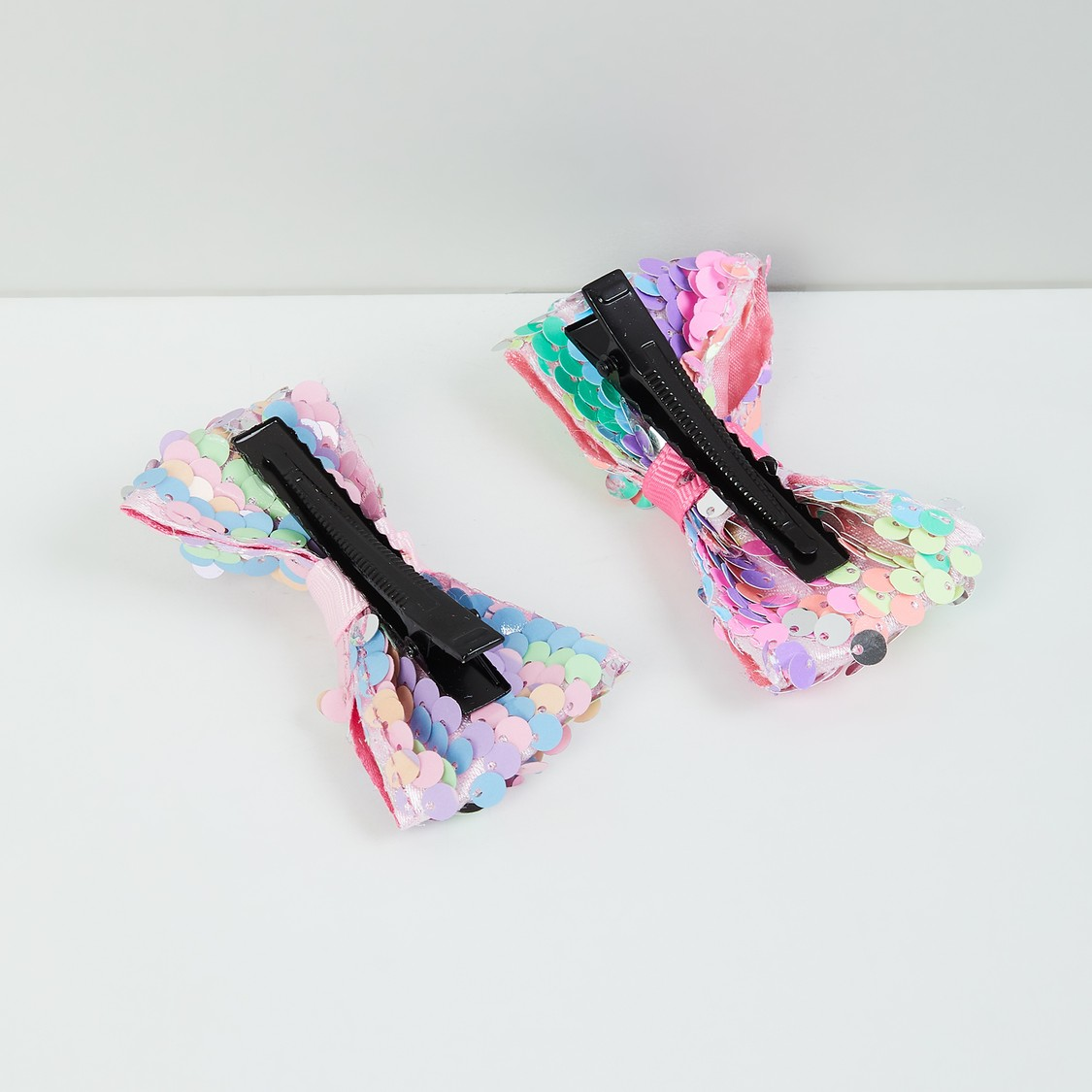 MAX Sequinned Bow Detailed Hair Clips- Set of 2