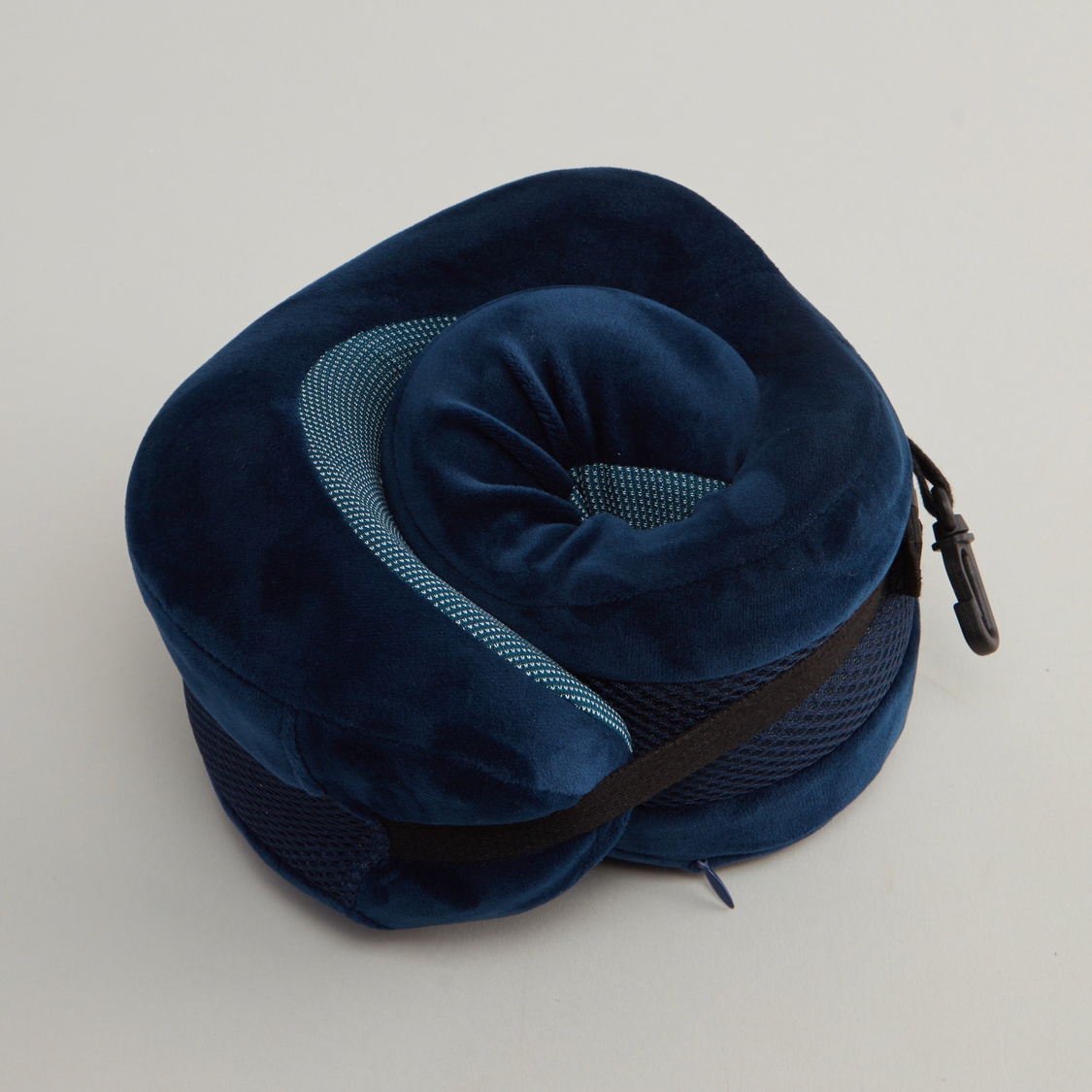 Textured Neck Pillow with Buckle Closure