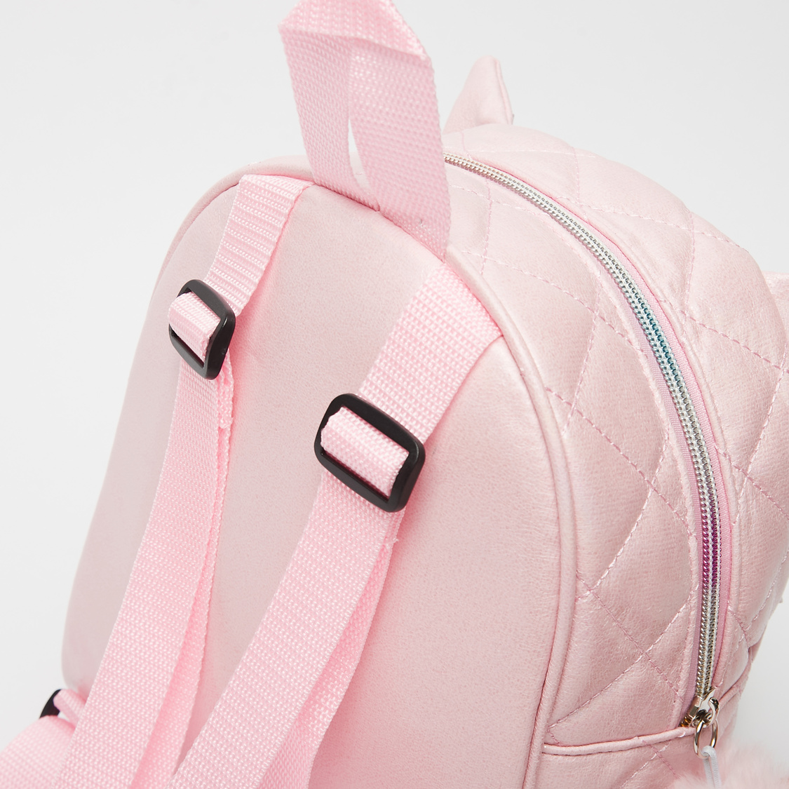 Quilted Backpack with Applique Detail and Adjustable Shoulder Straps