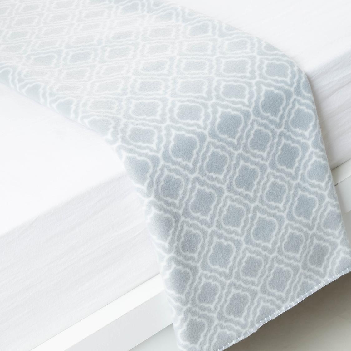 بطانية صوف بطبعات تريليس - 200×135 سم