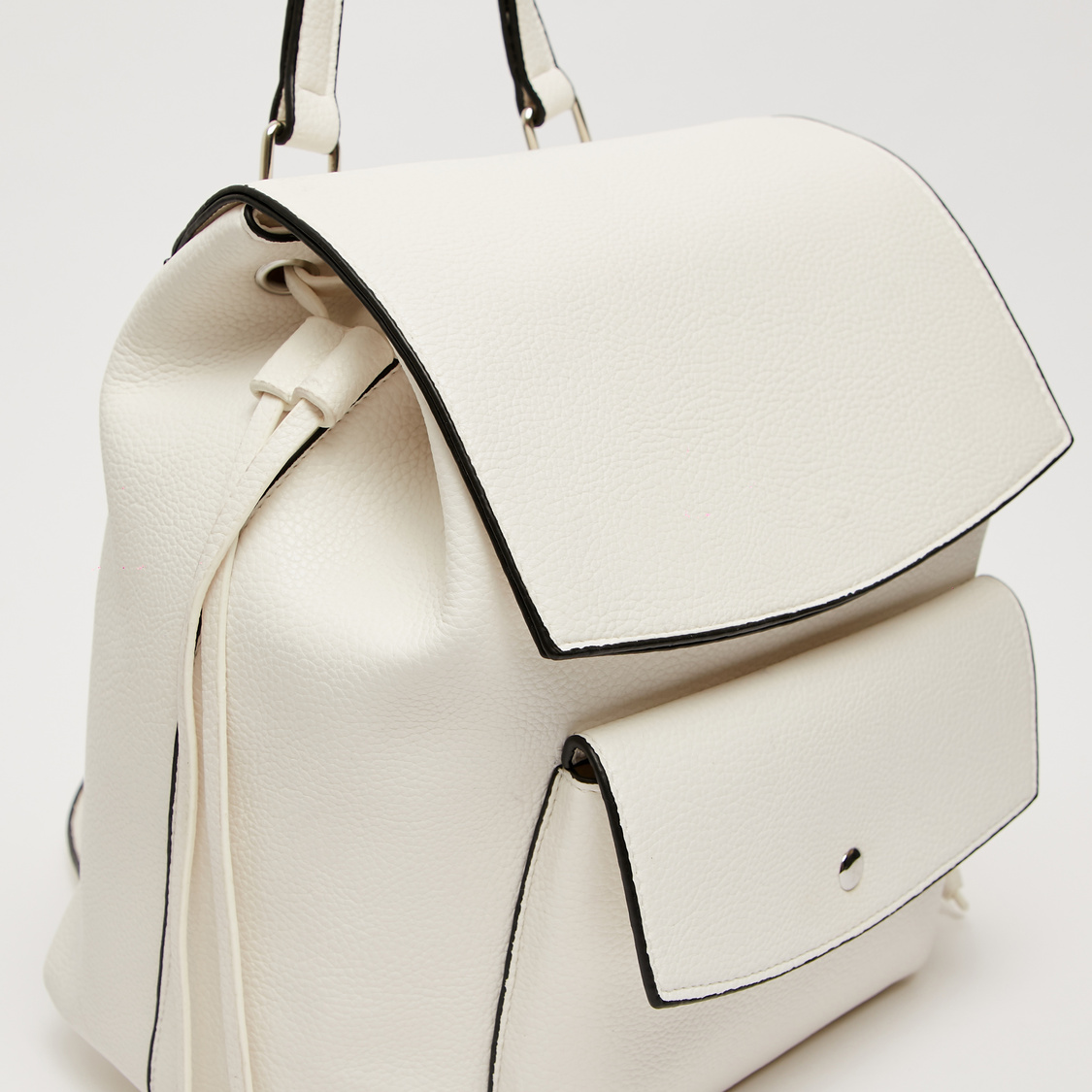 Solid Backpack with Front Pocket