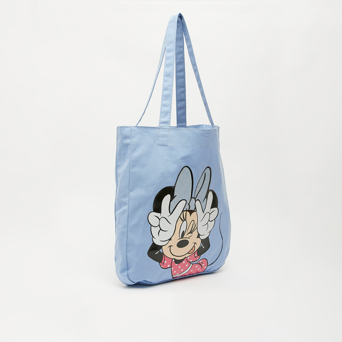 Minnie Mouse Print Shopper Bag with Shoulder Straps