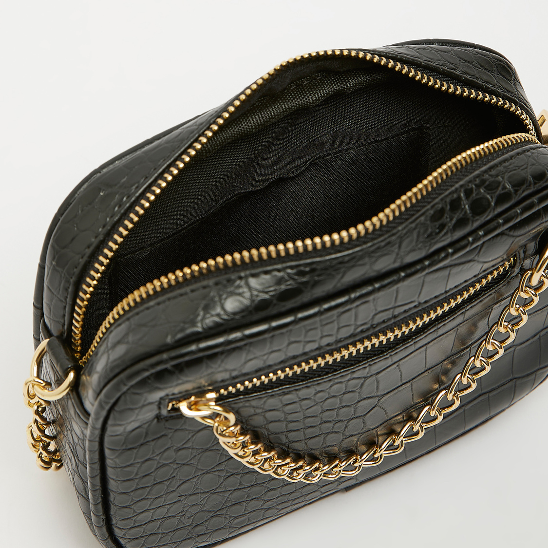 Reptilian Textured Crossbody Bag