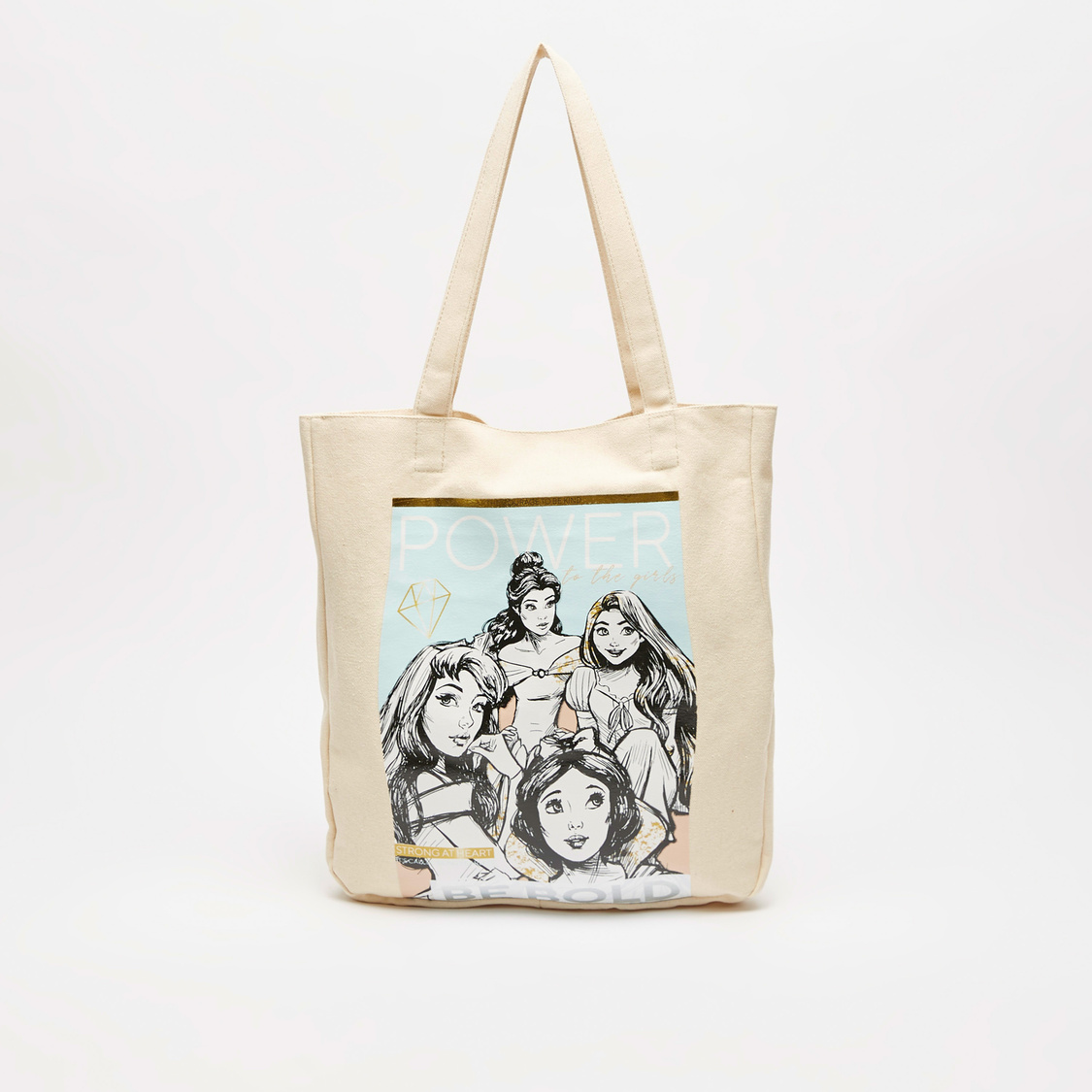 Graphic Print Tote Bag with Twin Handle
