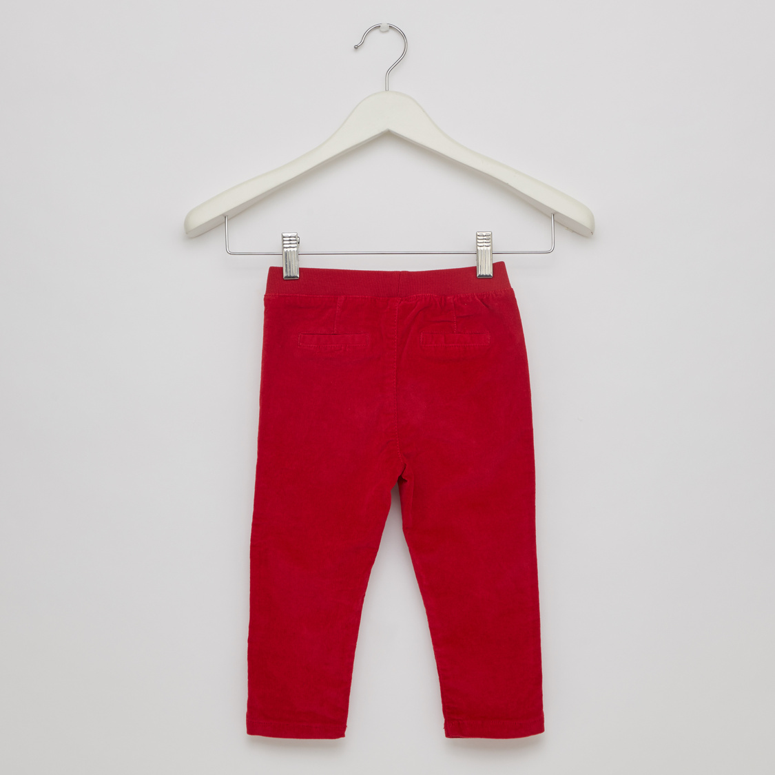 Solid Full Length Pants with Drawstring Closure and Pockets