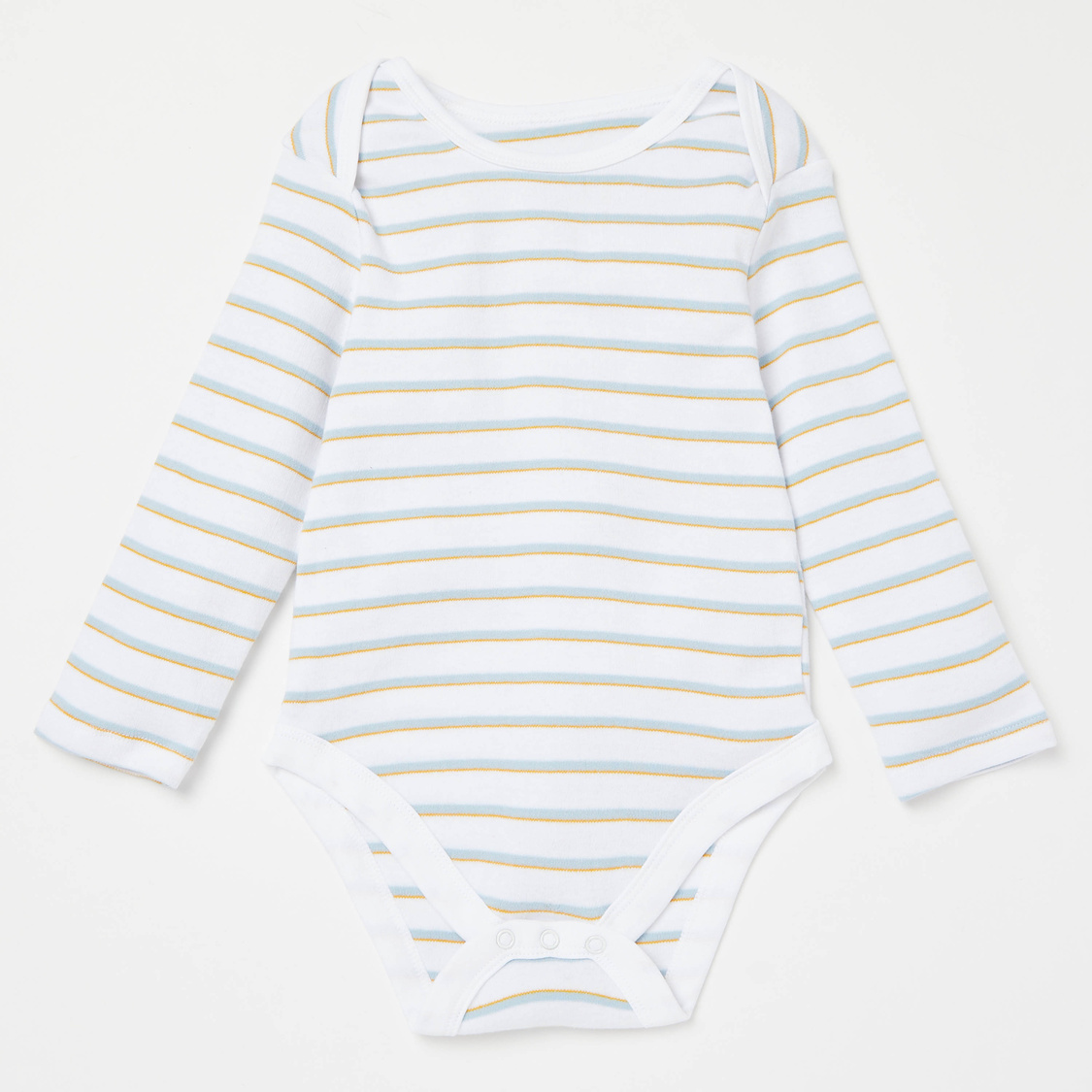 Pack of 7 - Solid Tonal Bodysuit with Long Sleeves