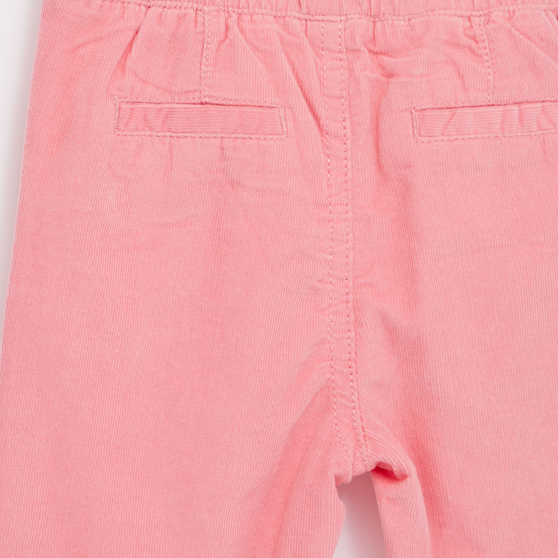 Textured Pants with Bow Applique