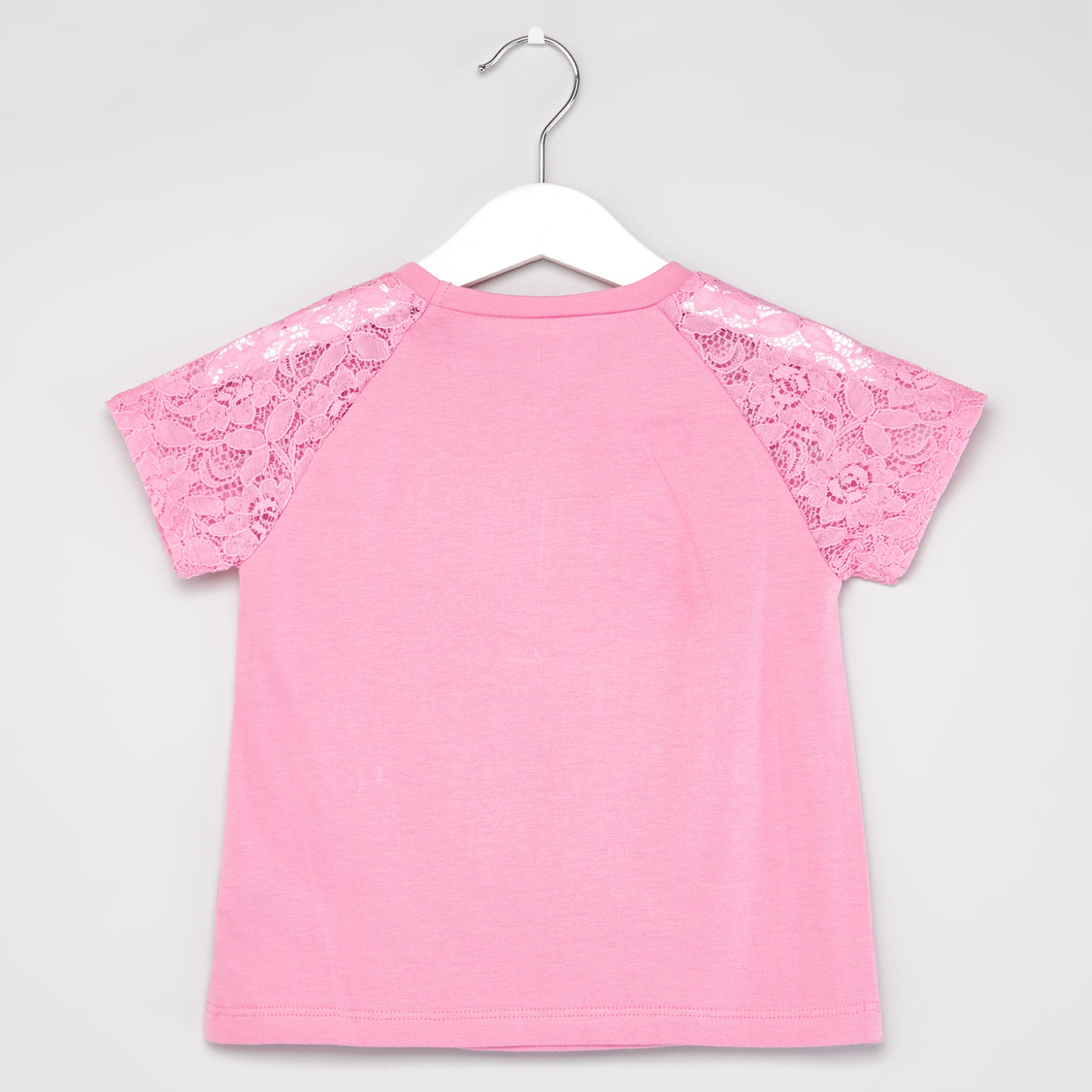 Minnie Mouse and Diasy Duck Printed T-shirt with Bow Detail Shorts