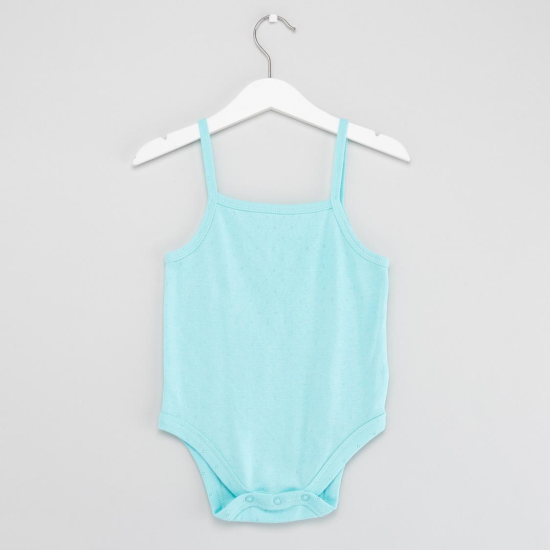 Set of 3 - Textured Sleeveless Bodysuit