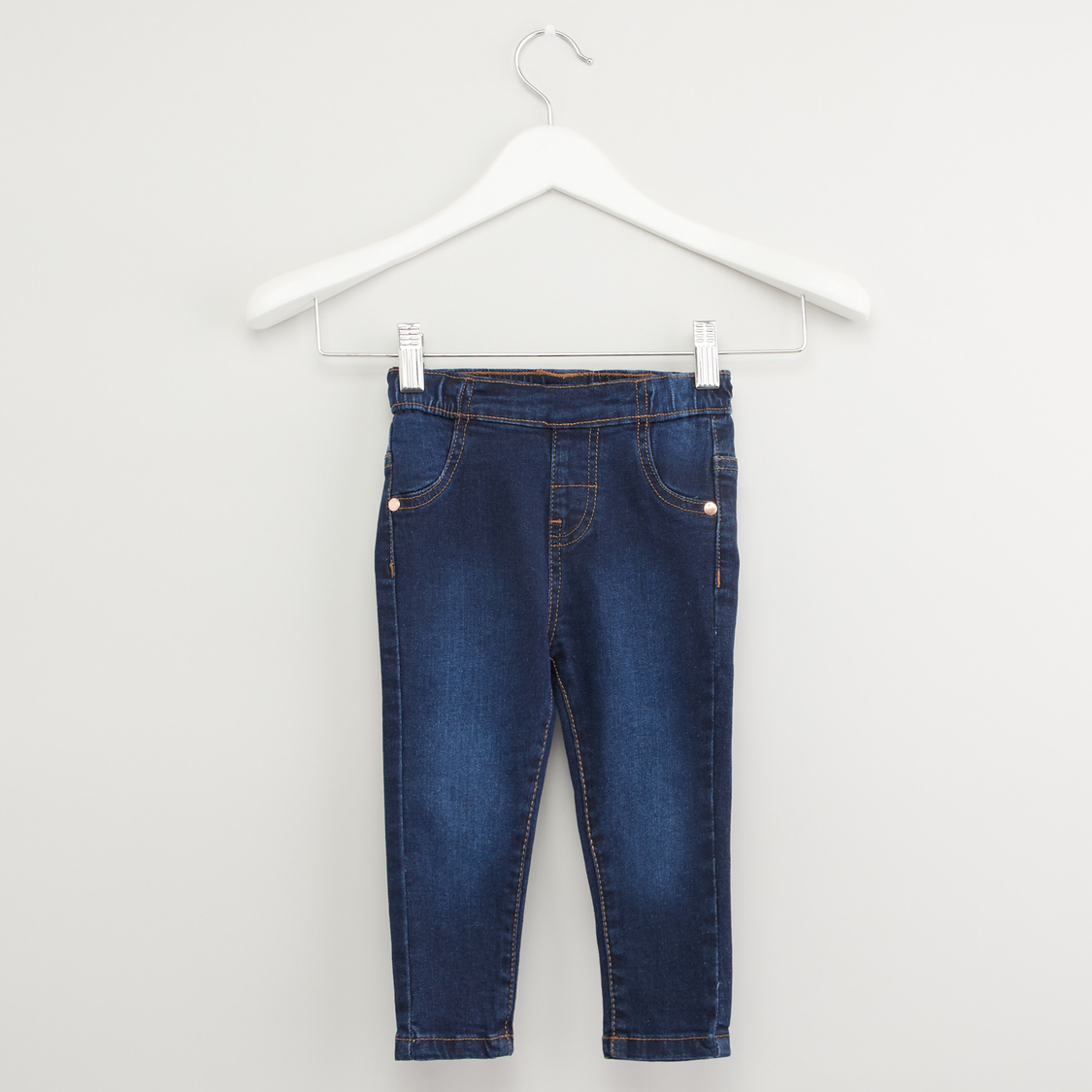 Textured Jeggings with Pocket Detail and Elasticised Waistband