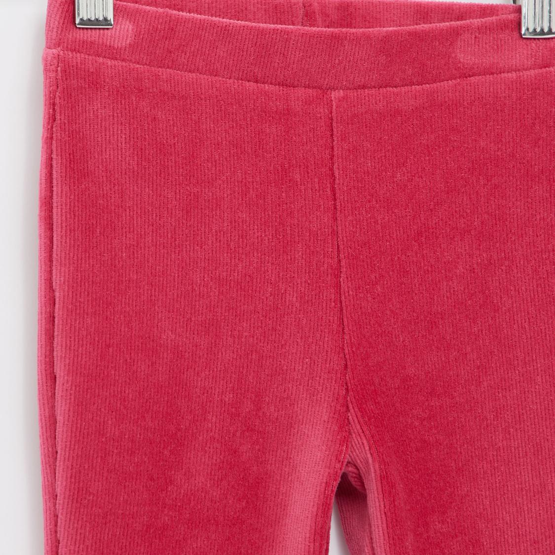 Full Length Textured Leggings with Elasticised Waistband