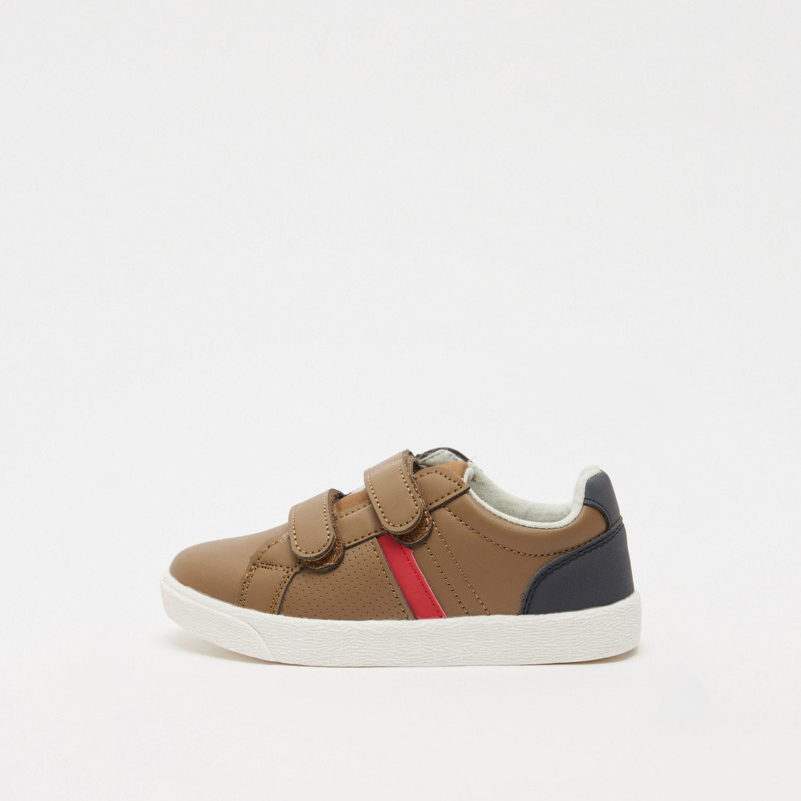 Textured Shoes with Hook and Loop Closure