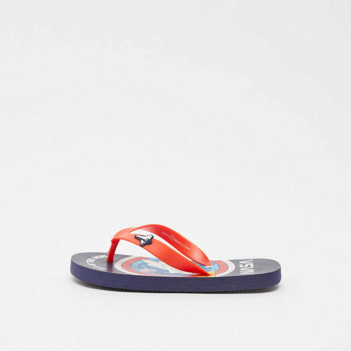 NASA Print Slip-On Flip Flops