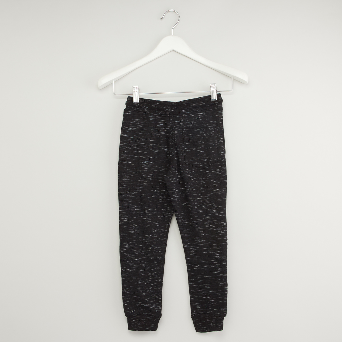 Full Length Jog Pants with Pocket and Applique Detail