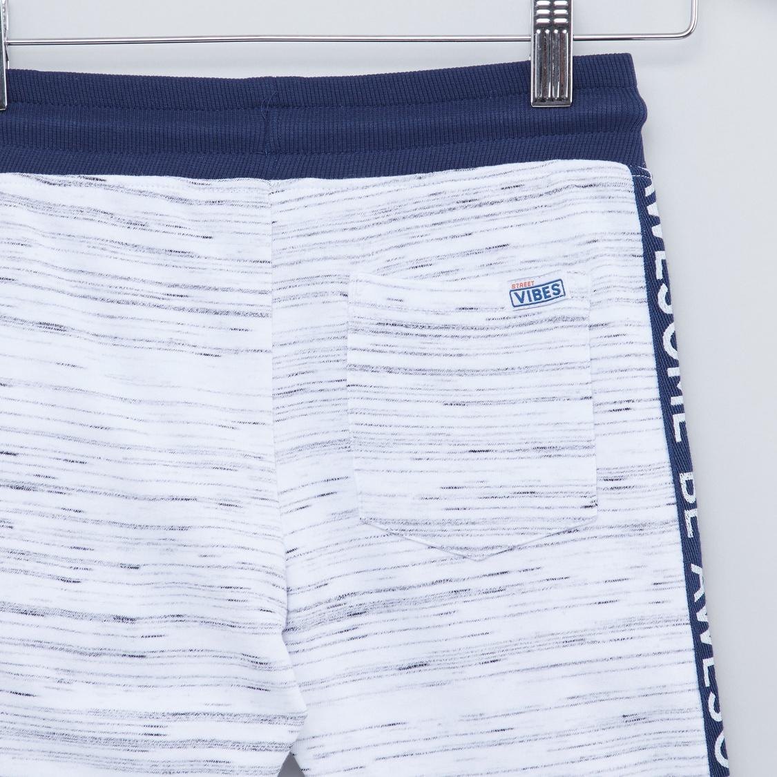 Printed Jog Pants with Drawstring and Pocket Detail