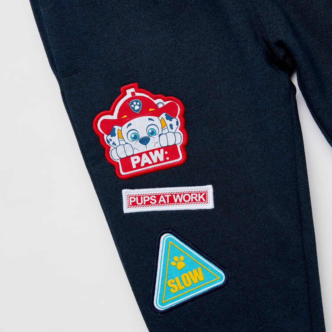 Paw Patrol Print Joggers with Drawstring and Pockets