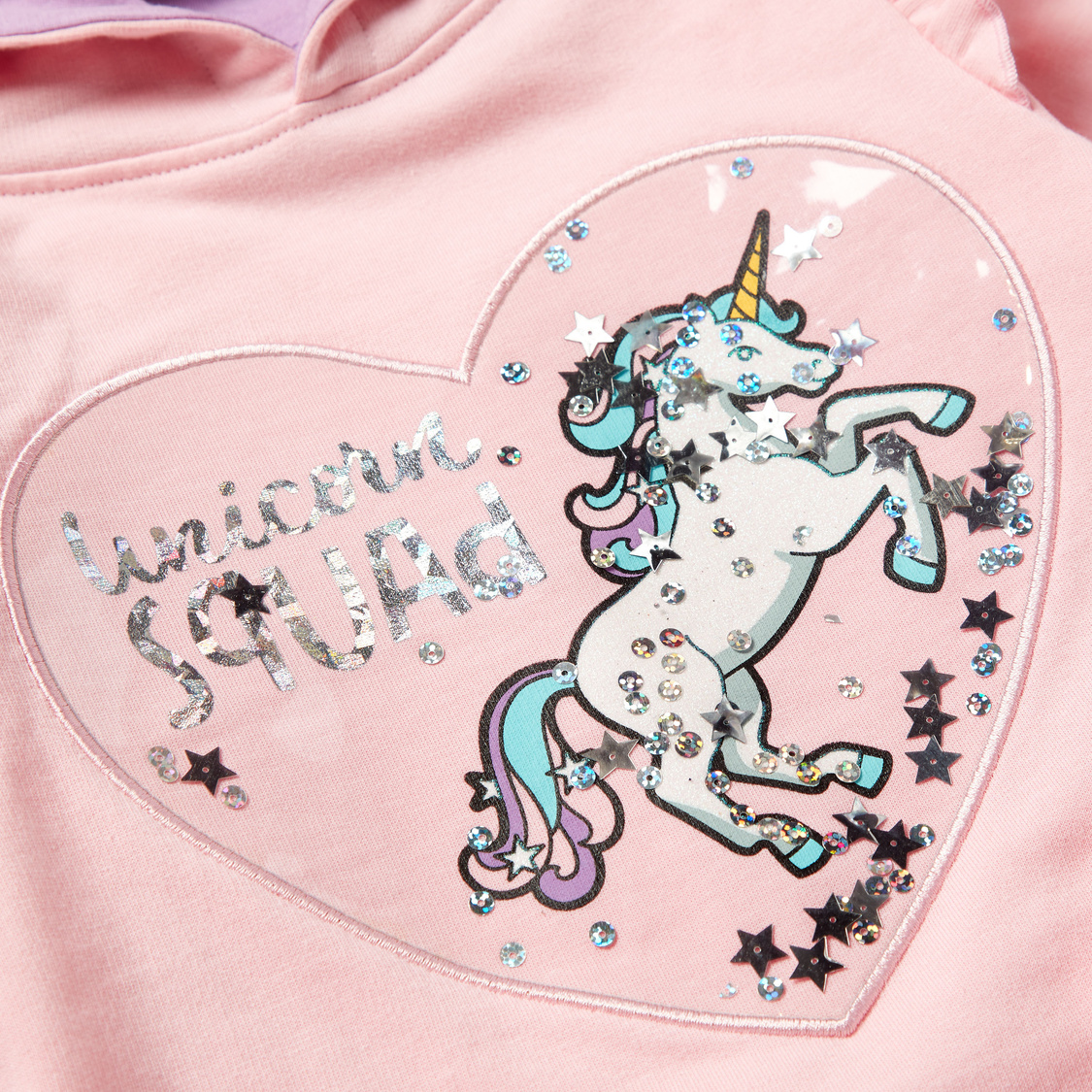 Unicorn Print Hooded Sweatshirt and Joggers Set