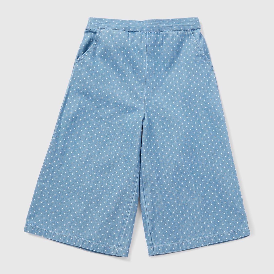 Polka Dot Short Sleeves Top and Culotte Set
