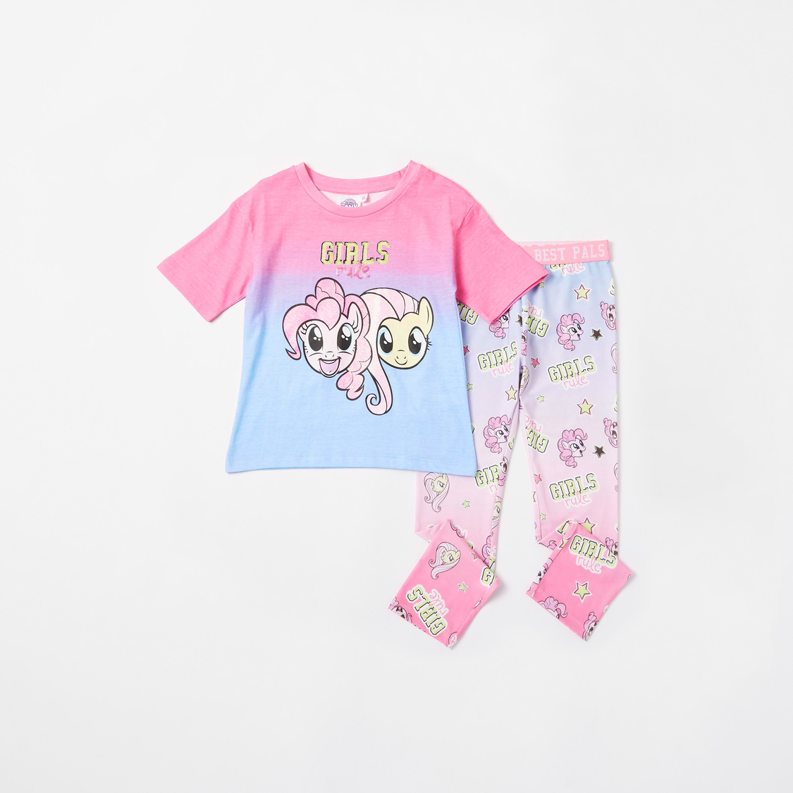 My Little Pony Print T-shirt and Full Length Leggings Set