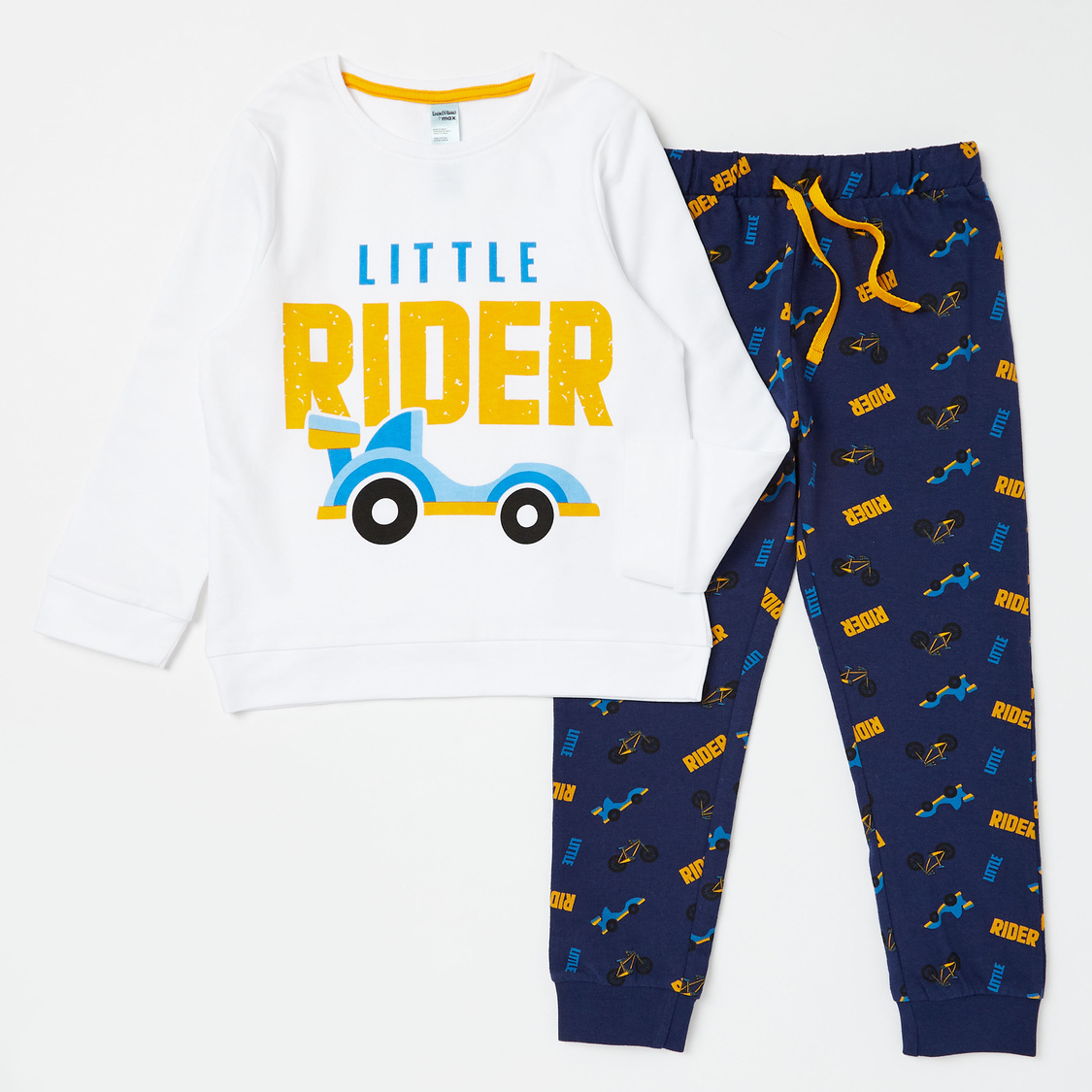 Cozy Collection Printed Round Neck T-shirt and Joggers Set