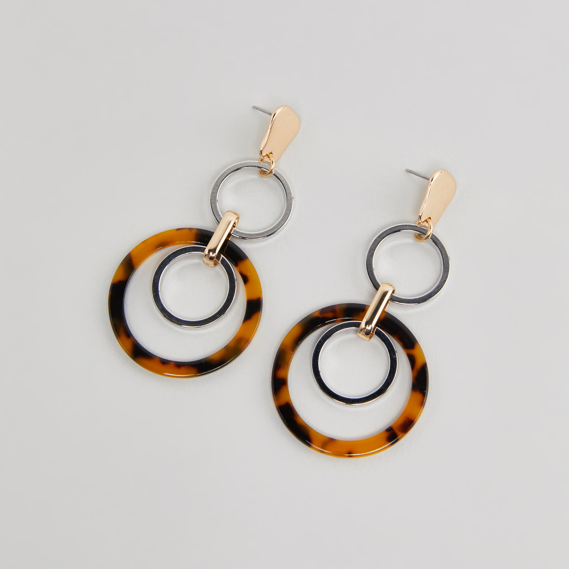 Circle Accented Danglers with Pushback Closure