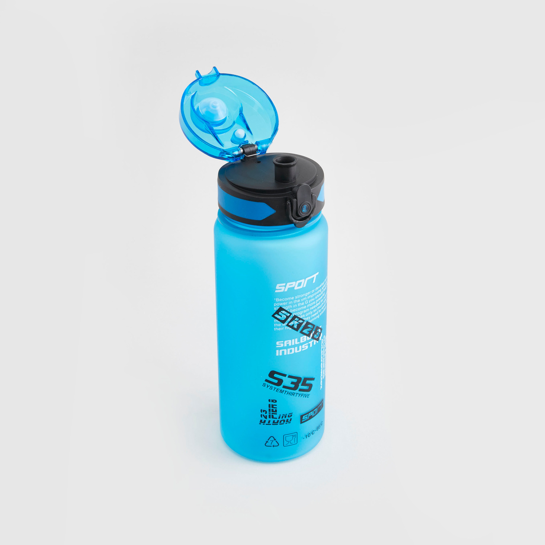 Printed Water Bottle with Flip Cap and Handle