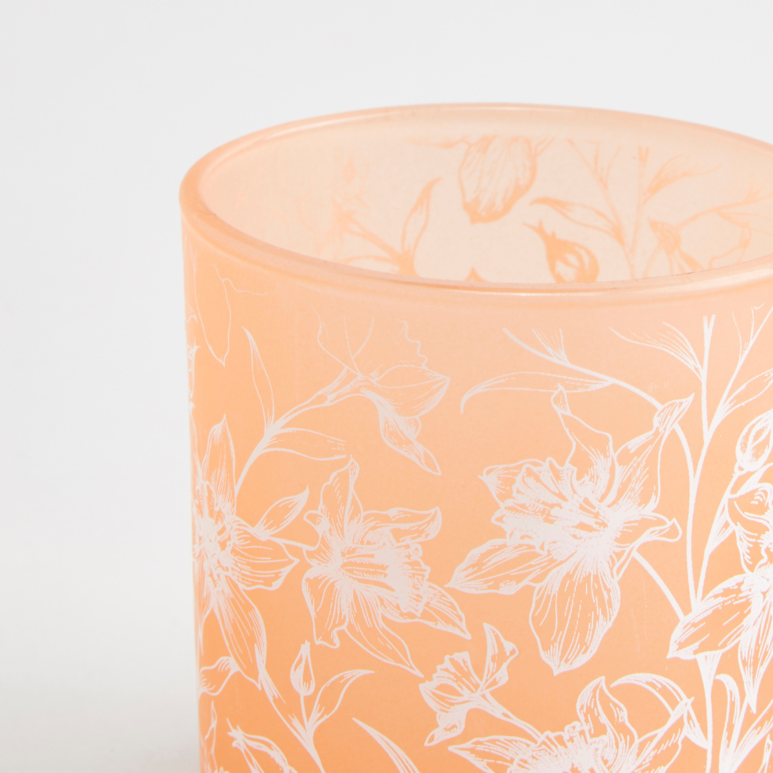Printed Votive Candle Holder - 7x7x8 cms