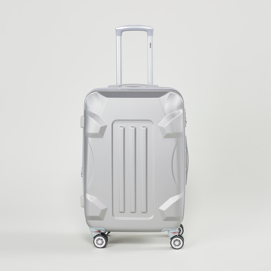 Textured Hard Case Luggage with Retractable Handle - 41x26x59 cms