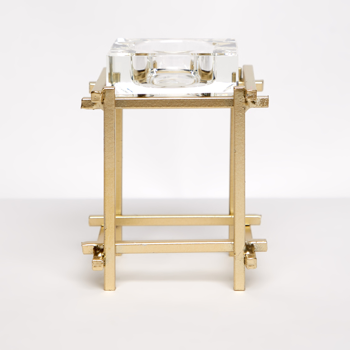 Decorative Square Votive Candle Holder with Stand