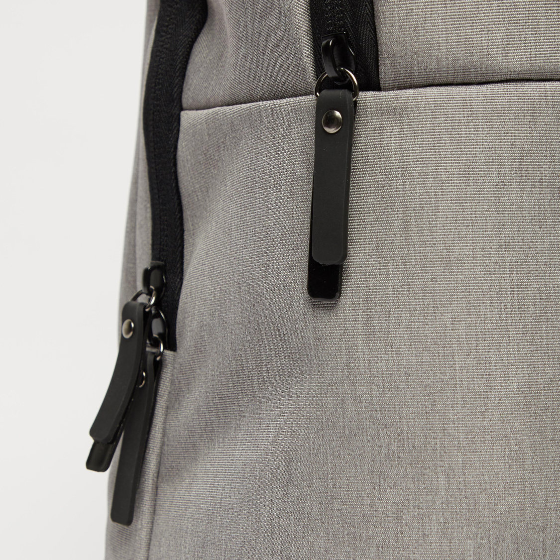 Textured Laptop Bag with Zip Closure