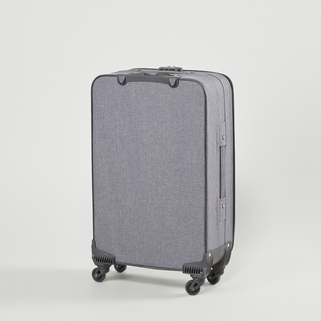 Textured Soft Case Trolley Bag with Swivel Wheels
