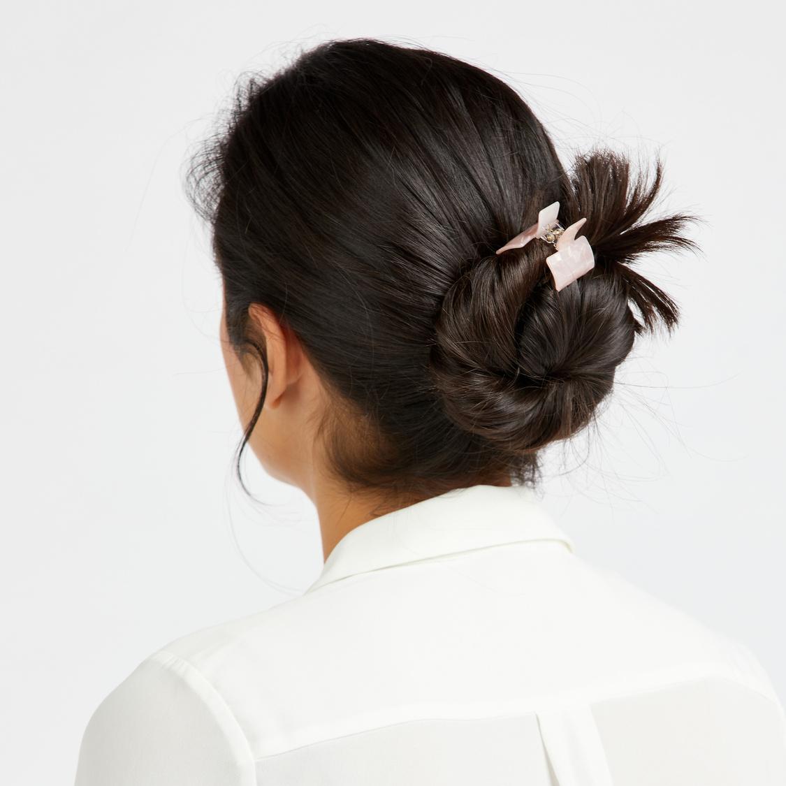 مشابك شعر بارزة الملمس - طقم من 3 قطع