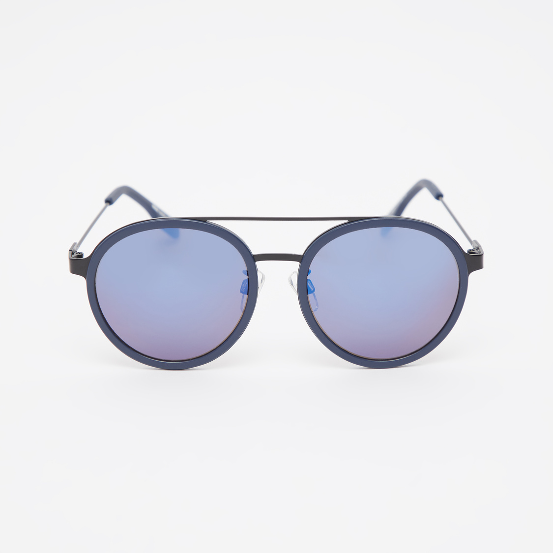 Full Rim Round Sunglasses with Nose Pads and Temple Tips
